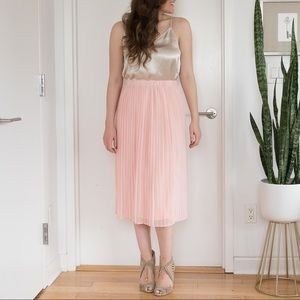 Piperlime Pleated Midi Skirt